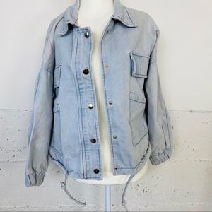 Light Wash Jean Jacket with patch pockets